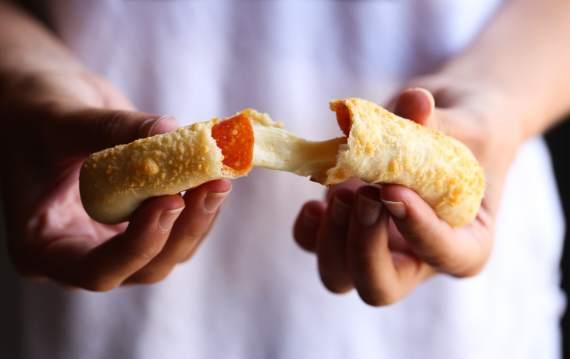 Cheesy Stuffed Pizza Breadsticks