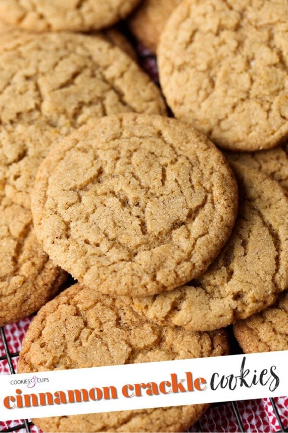 Cinnamon Crackle Cookies pinterest image