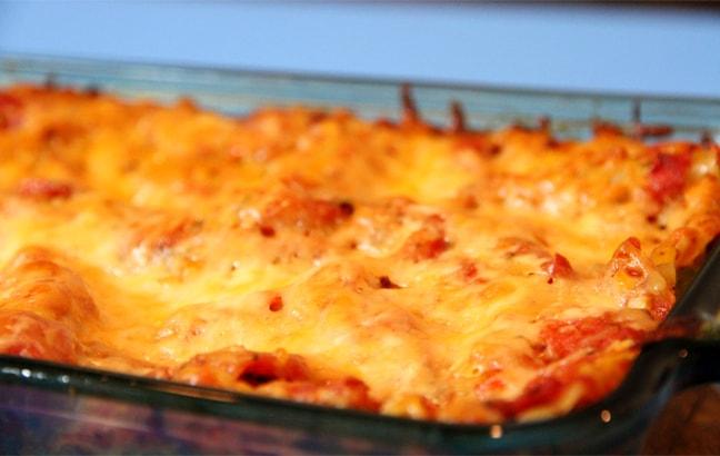 Vegetable Lasagna with Homemade Tomato Sauce
