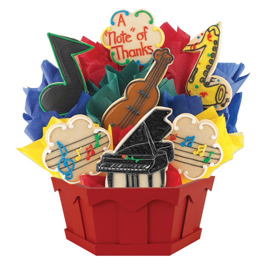 Music Cookie Bouquet  Cookies by Design