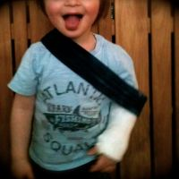 Comment rendre fashion un bras dans le plâtre {avec Babylegs}