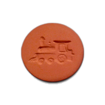 087-Train Engine Cookie Stamp | CookieStamp.com