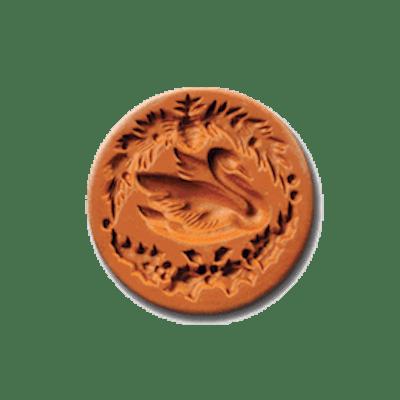 1028 Christmas Swan Cookie Stamp | CookieStamp.com