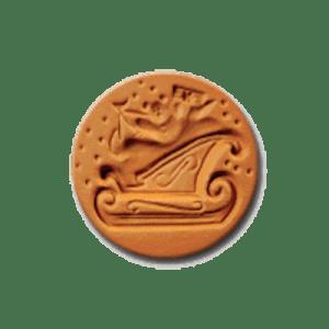 1030 Sleigh Cookie Stamp | CookieStamp.com