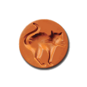 1057 Scary Cat Cookie Stamp | CookieStamp.com