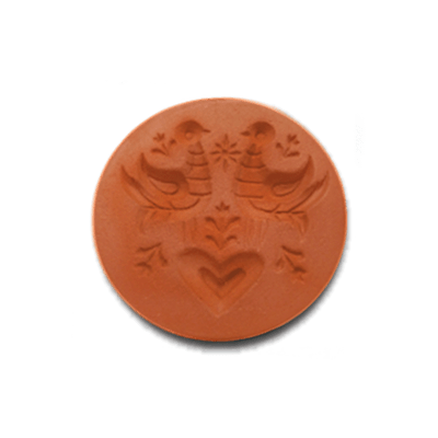 1062 - Scandinavian Love Birds Cookie Stamp | CookieStamp.com