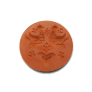 1062 - Scandinavian Love Birds Cookie Stamp | CookieStamp.com