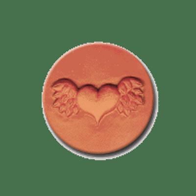 309 Heirloom Rycraft Winged Heart Cookie Stamp | CookieStamp.com