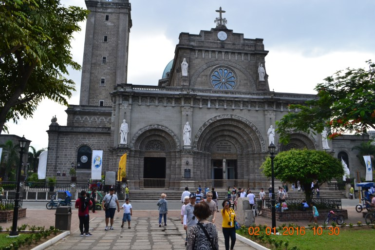 First point of two side Manila Church