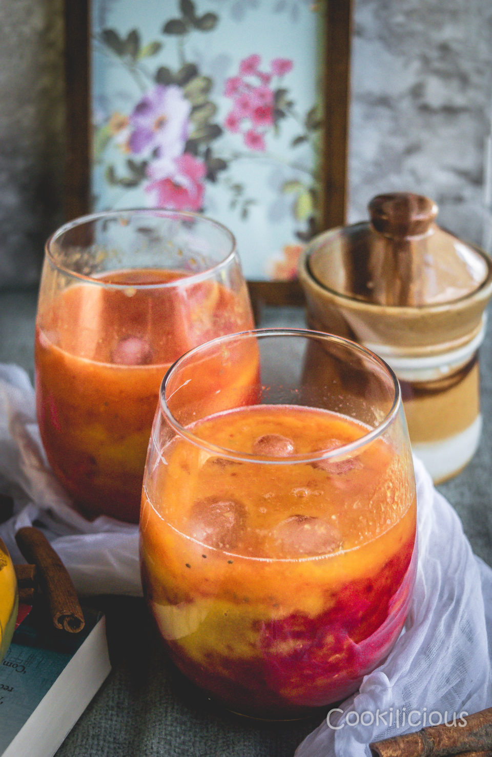 Fresh Mango Orange Summer Mocktail With BeetsDrinks Power Breakfasts