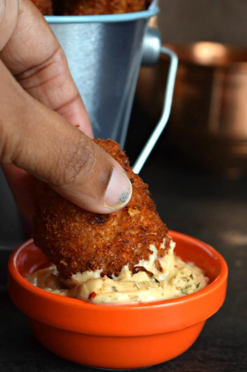 Stella Cheese, Rice & Methi Kebab With Tater Tot StuffingAppetizers & Snacks