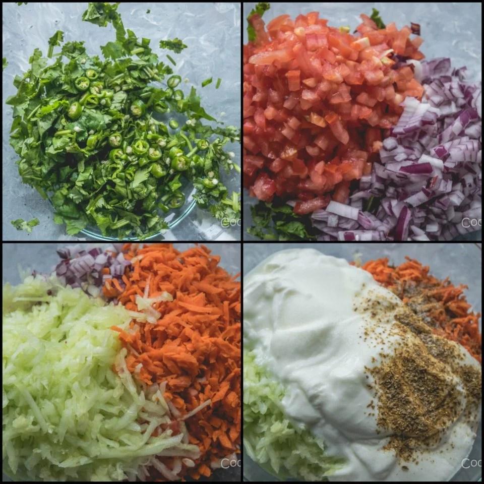 Maharashtrian Koshimbir   Indian Veggie & Yogurt SaladCondiments