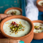 Shrikhand Milkshake also known as Piyush is a sweet and creamy Indian beverage made with shrikhand, yogurt, milk and saffron. This aromatic summer drink is yum!