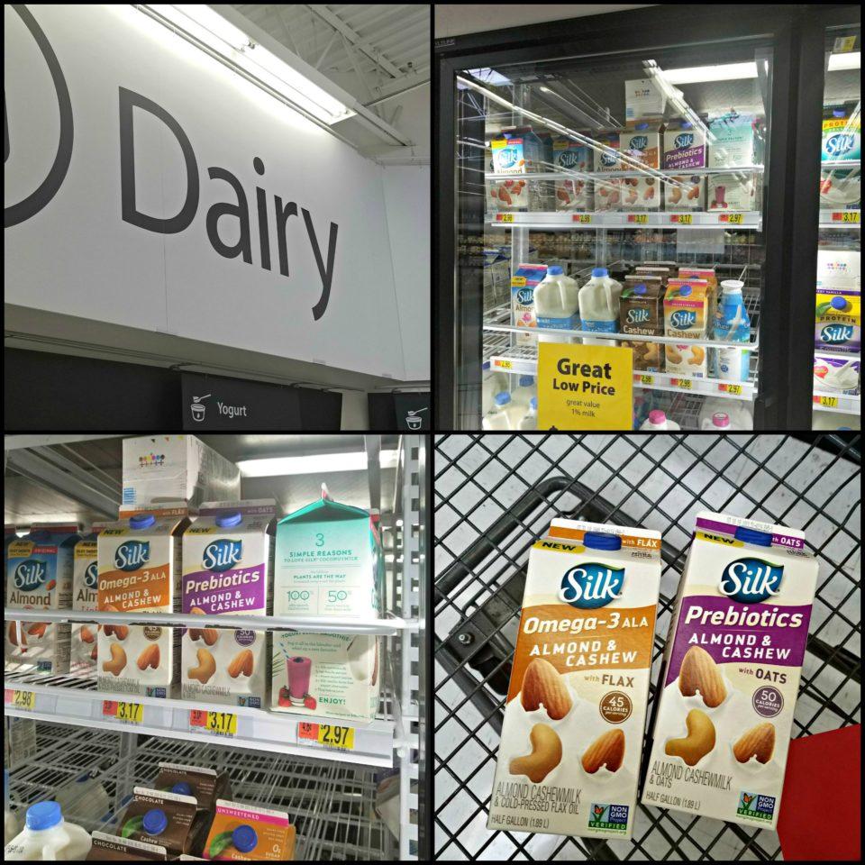 Where to find Silk Almond CashewMilk in Walmart