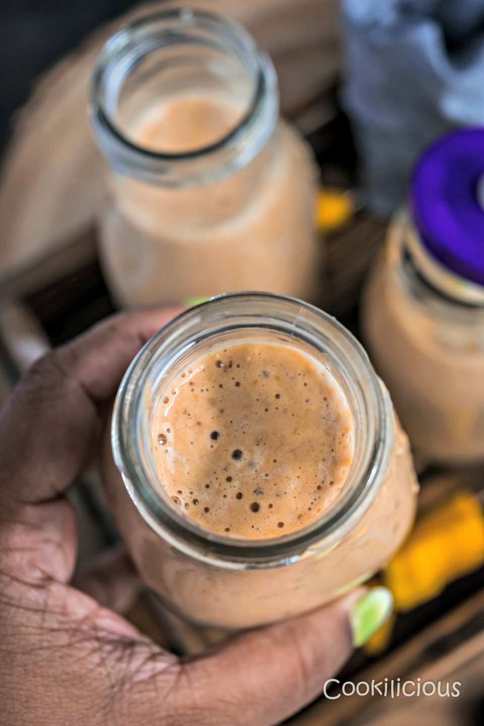 Dairy Free Mango Figs & Apricot Power SmoothieDrinks Power Breakfasts