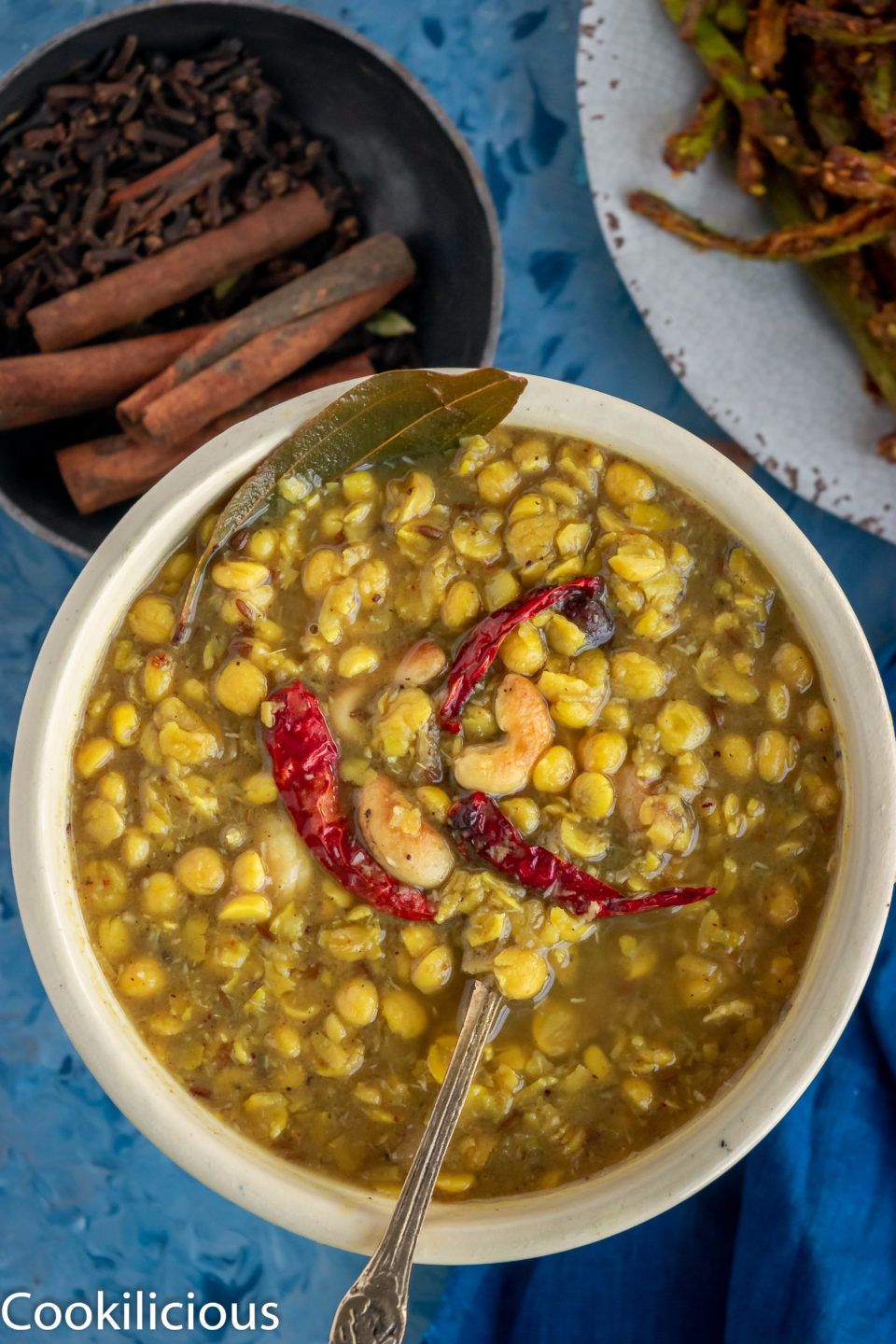 close up shot of Bengali Style Cholar Dal With Chana Dal in a bowl