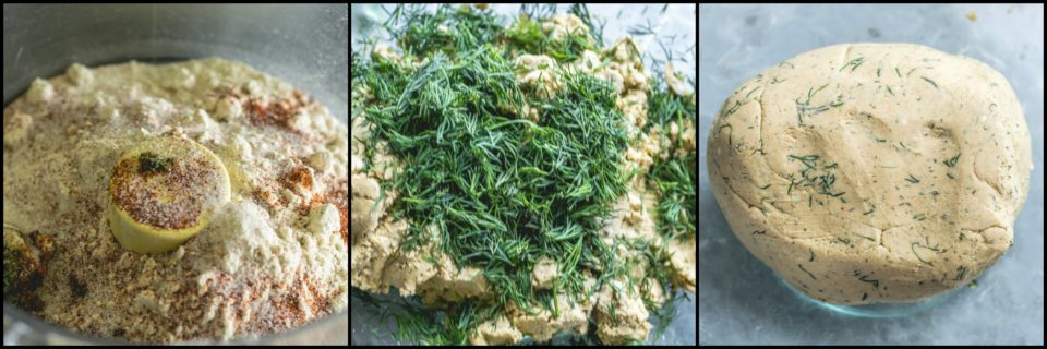 3 image collage showing the steps to make Dill Flavored Jowar Bhakri