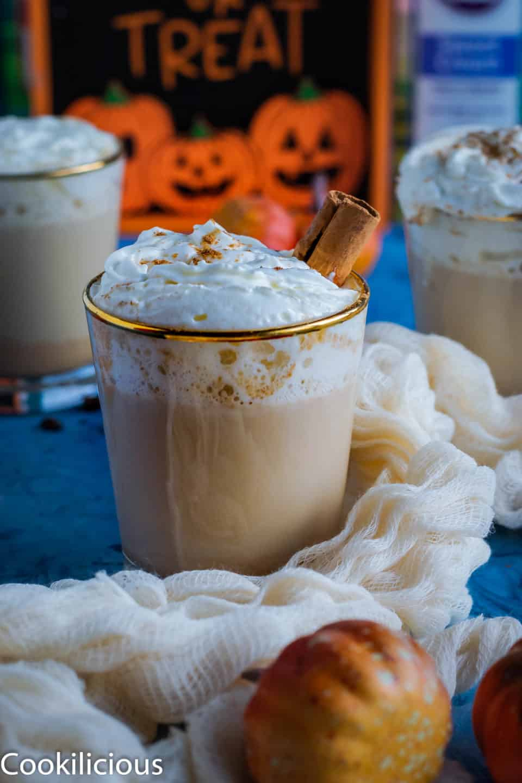 Spiced Coffee & Pumpkin Latte in a glass