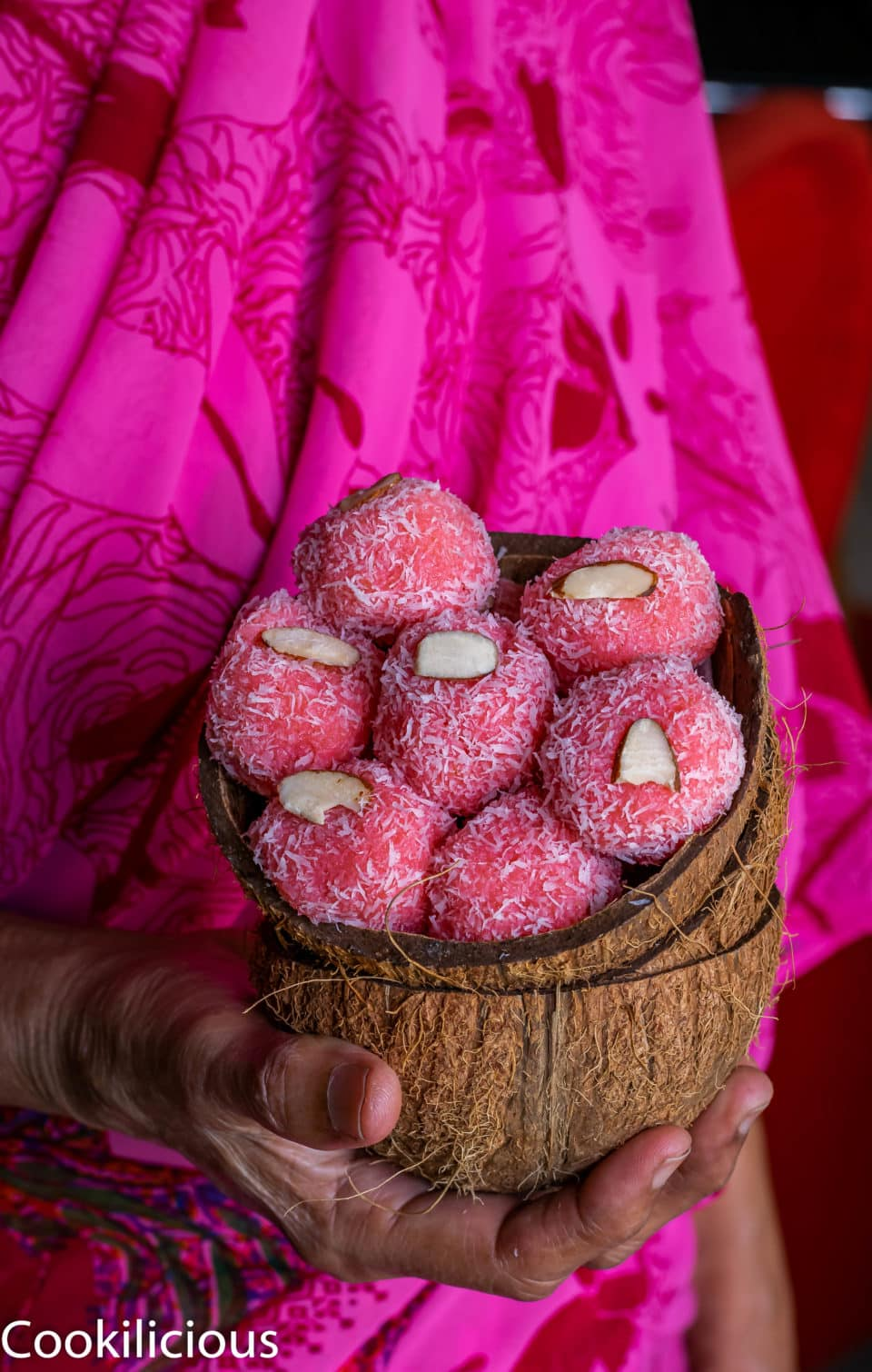 How to make Instant Rose flavored Coconut Ladoo in 10 minutes!Desserts