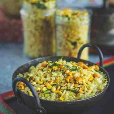 5-Minute Savory Rice Krispie Chivda | Trail Mix