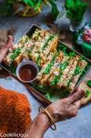 Indian Style Spiced Yogurt Sandwich | Dahi SandwichBurgers & Sandwiches
