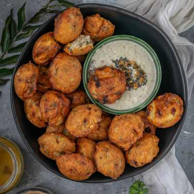 Dill Flavored Lentil Fritters