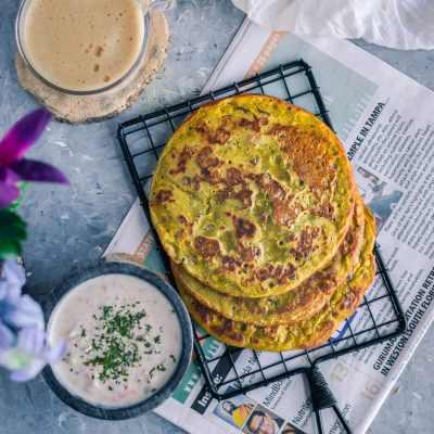 Lentil Pancakes with Leftover Dal