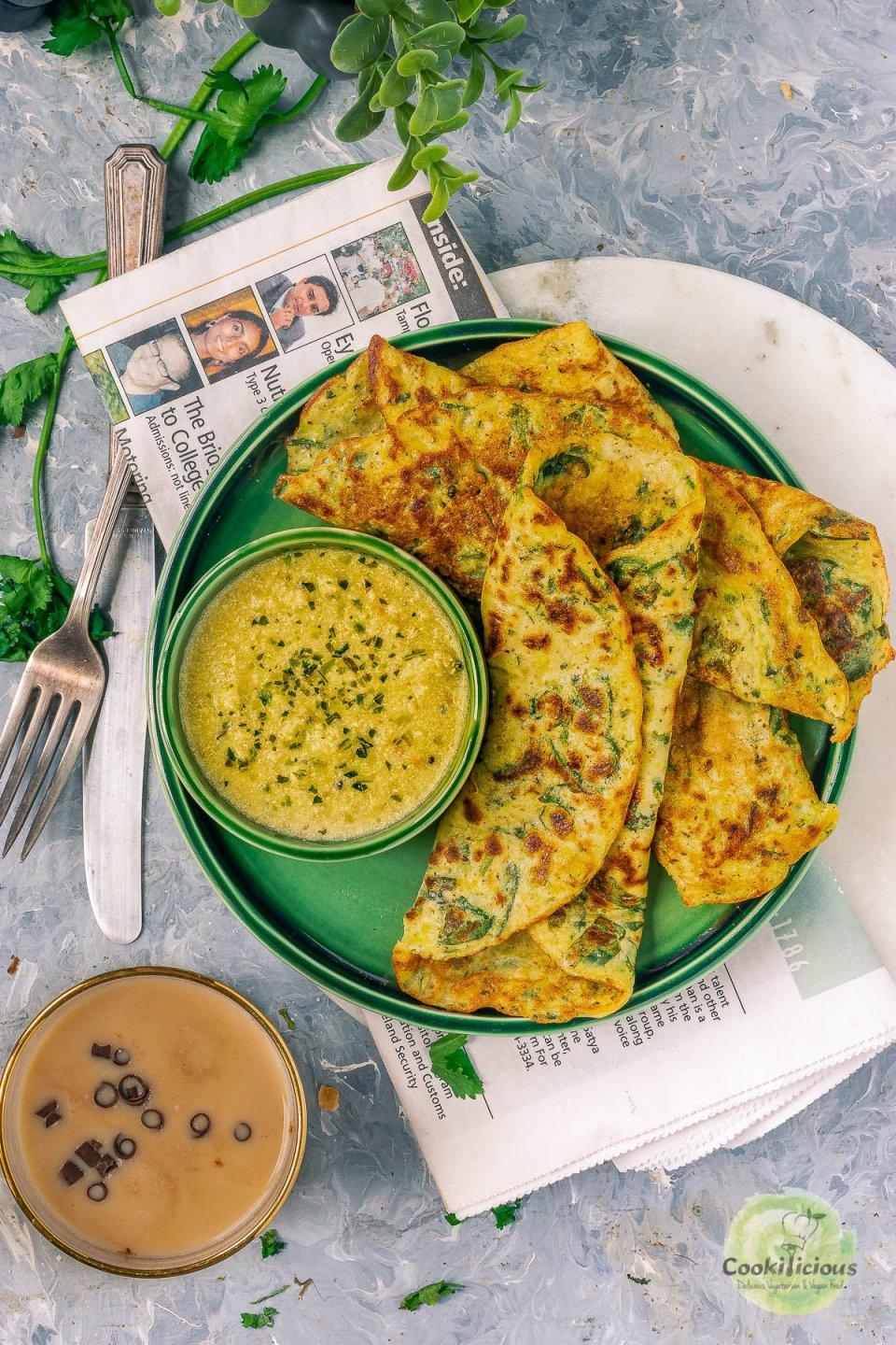 set of 3 Instant Potato Dosa (a South Indian breakfast) rolled and placed in a plate