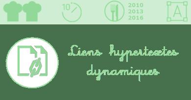 La fonction Lien_hypertexte pour rendre des liens dynamiques