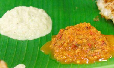 cocnut chutney street food in kuala lumpur