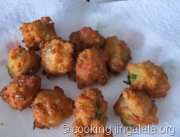 split chickpeas fritters