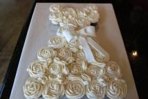 Bridal Wedding Dress Cupcake Cake