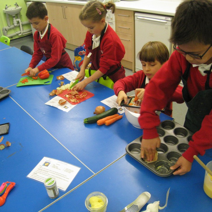 after-school clubs, kids cooking, education, healthy eating, teamwork, having fun