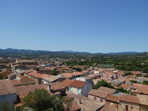 View from the church in Arzachena