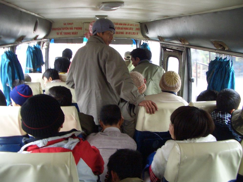 A bus journey in south east Asia