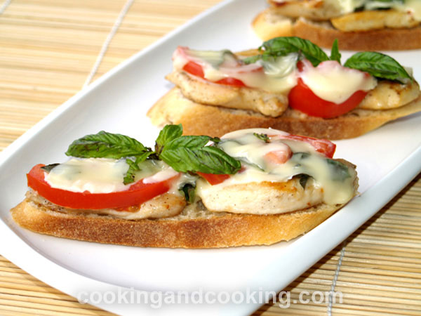 Open Faced Chicken Sandwich  Easy Sandwich  Cooking and Cooking