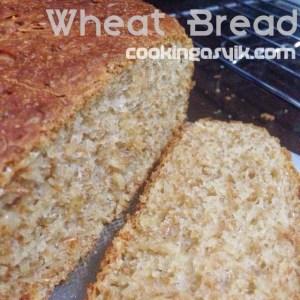 Membuat roti gandum wholemeal wheat bread mudah menggunakan mixer