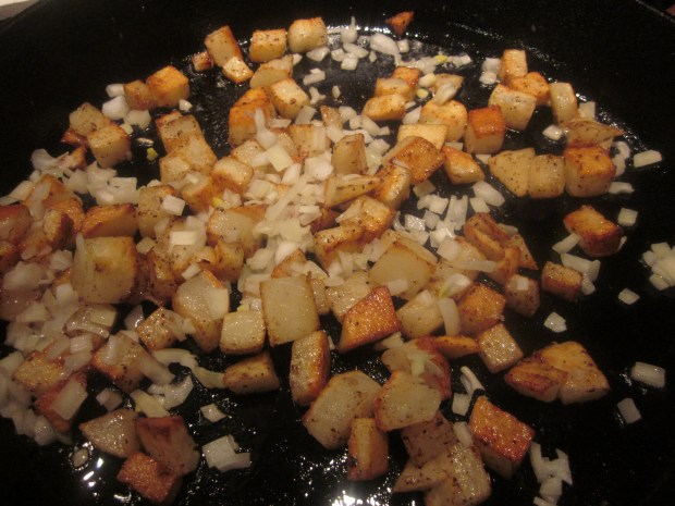 spinach cheese breakfast skillet 014