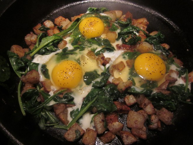 spinach cheese breakfast skillet 017