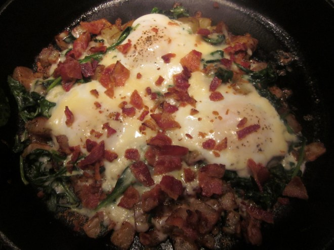 spinach cheese breakfast skillet 020