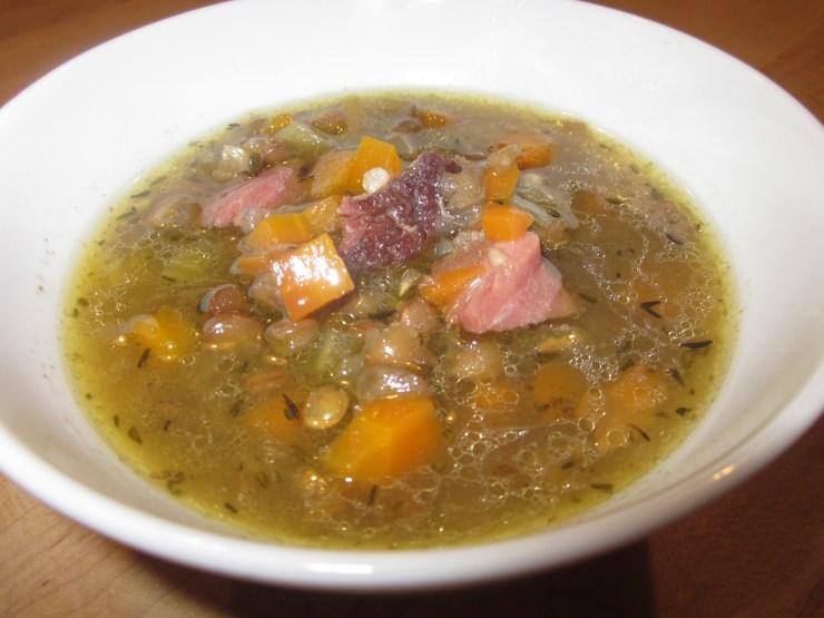 ham hock and lentil soup 060