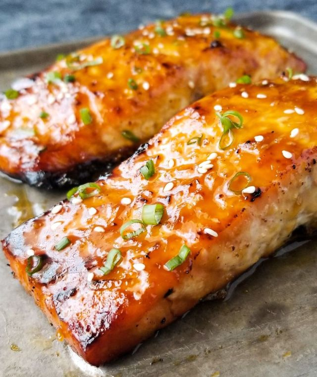 delicious salmon from the oven
