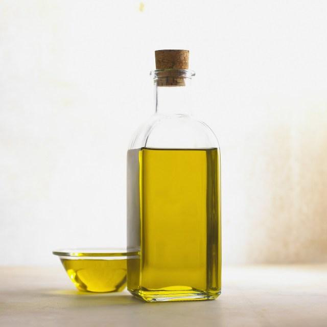 oil in glass bottle