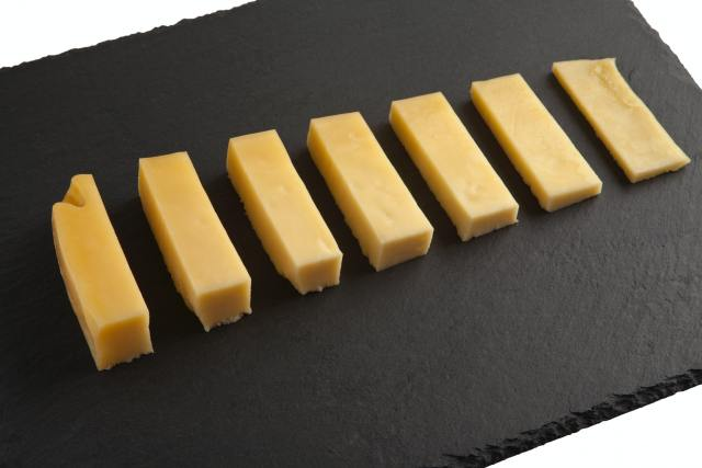 cheddar cheese in slices