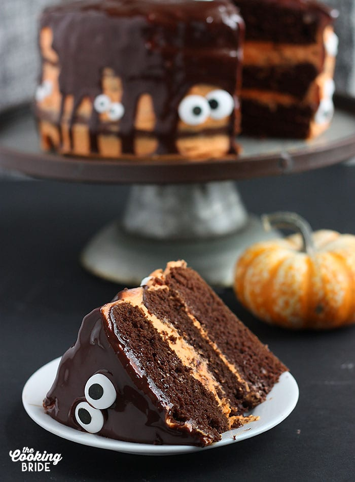 Halloween Chocolate Pumpkin Cake | The Cooking Bride