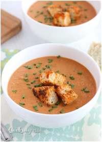 Shrimp Bisque with Spicy Croutons - CookingBride.com