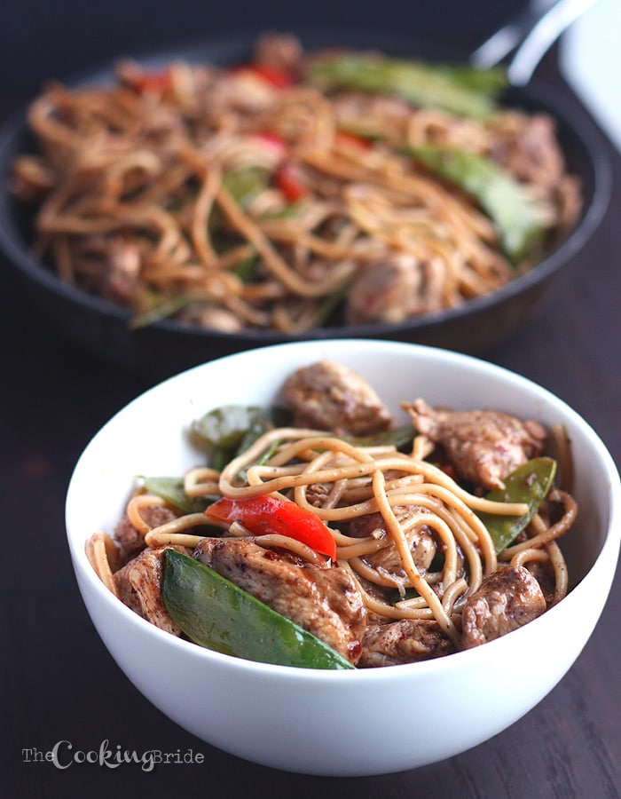 Chicken chow mein the cooking bride try this easy chicken chow mein recipe with chicken breasts seasoned with asian spices then tossed forumfinder Choice Image