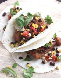 Beer Battered Fish Tacos with Avocado Crema - CookingBride.com