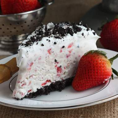 Strawberry Ice Cream Cake