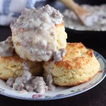Learn how to make sausage gravy and biscuits in minutes. Simple and easy to prepare, this creamy gravy is a staple in the South.